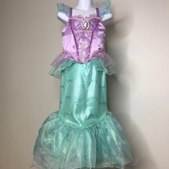 DISNEY Little Mermaid Ariel Costume Girls Size 5/6